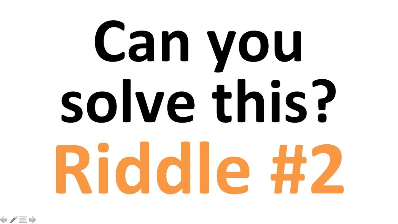 Hardest Riddle Can You Solve This Riddle Nr 2 - Youtube-8667