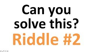 HARDEST Riddle: Can you solve this? Riddle Nr. 2