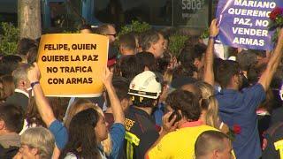 Abucheos al Rey y a Rajoy en la manifestación de Barcelona