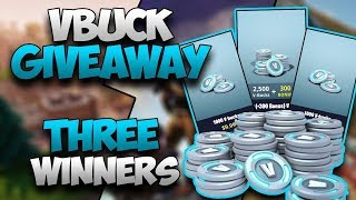 FORTNITE BATTLE ROYALE 5,000 VBUCK GIVEAWAY!!! |800 Sub Special Soon|