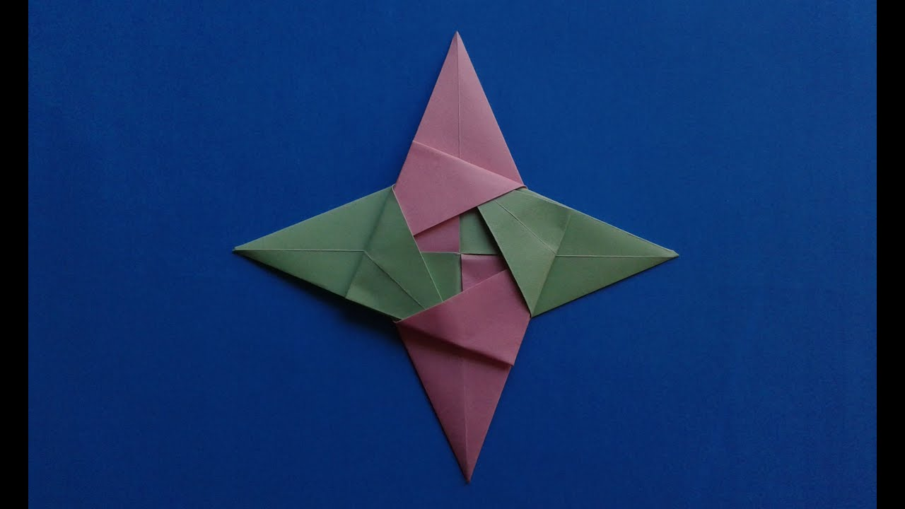 How to make the origami ninja Star оригами звезда - YouTube - photo#6