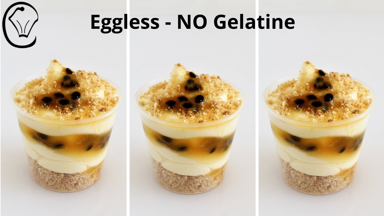 Very Quick to Make Passion Fruit Dessert Cups  Eggless No Gelatine Passion Fruit Mini Dessert