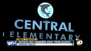 Autistic boy wanders away from school