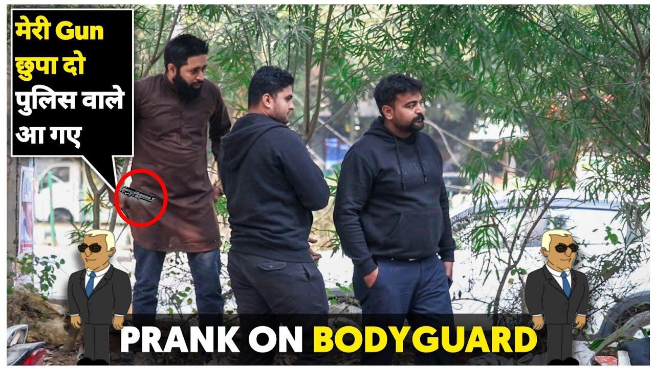 Prank On Bodyguard | Sunny Arya | Tehelka Prank