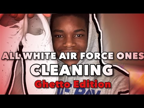 HOW TO CLEAN WHITE AIR FORCE ONES ‼️ TESTING EVERY METHOD (GHETTO EDITION)