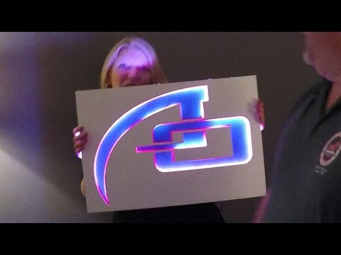 🔥👉🏻 How to Make an RGB backlit LED Sign for Wall Decoration for a Studio or Office
