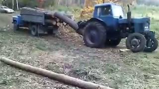 Для Кирюши. Трактор в лесу.