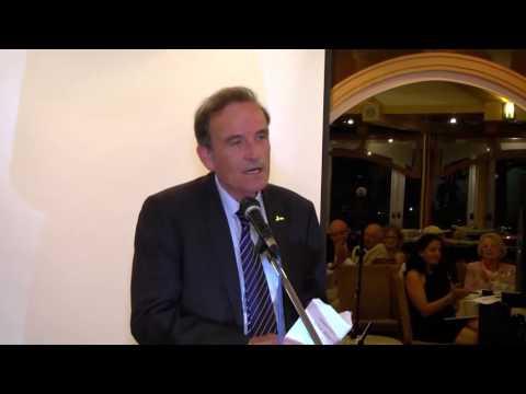 עמוס שפירא מסיים תפקיד  בערב הפרידה מחבר הנאמנים  של אוניברסיטת חיפה