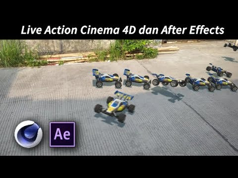 After Effects Cinema 4D Indonesia -   Live Action Compositing Tutorial