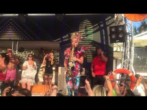 The lovely Laura at Ocean beach club ibiza 15/06/15