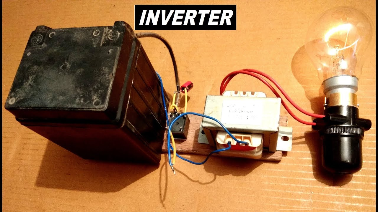 simplest inverter ever 12v to 220v ac dc to ac converter diy [ 1280 x 720 Pixel ]