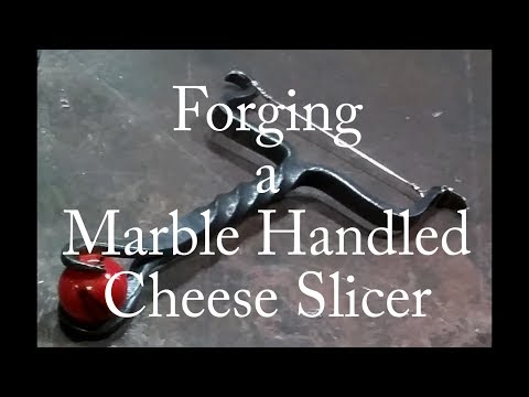 Forging a Marble Handled Cheese Slicer