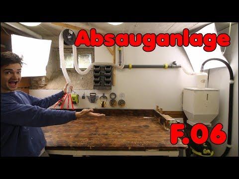 Absauganlage für Werkstatt selber bauen! | F.06 Community-Keller
