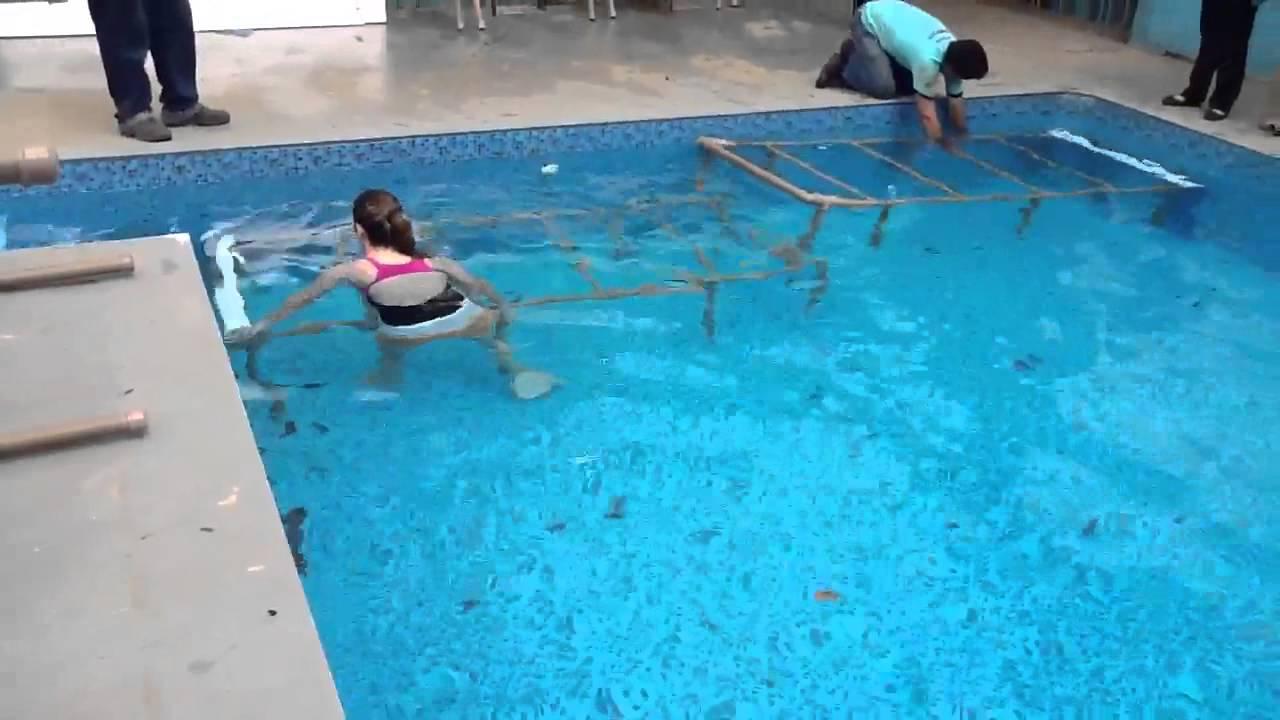 Plataforma de redu o de profundidade youtube for Plataforma para piscina