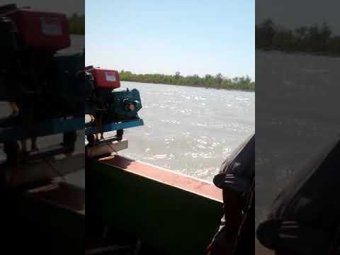 Indus river boat travel at tarbela dam ghazi