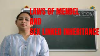 LAWS OF MENDEL AND SEX LINKED INHERITANCE(Easy explanation )AS PER ICSE Class 10th