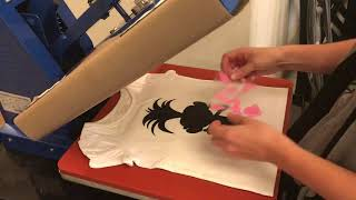 Layering HTV/Iron On  with heat press cut with cricut
