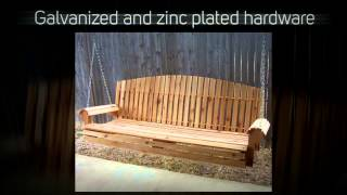 Tmp Outdoor Furniture Fan Back Red Cedar Porch Swing