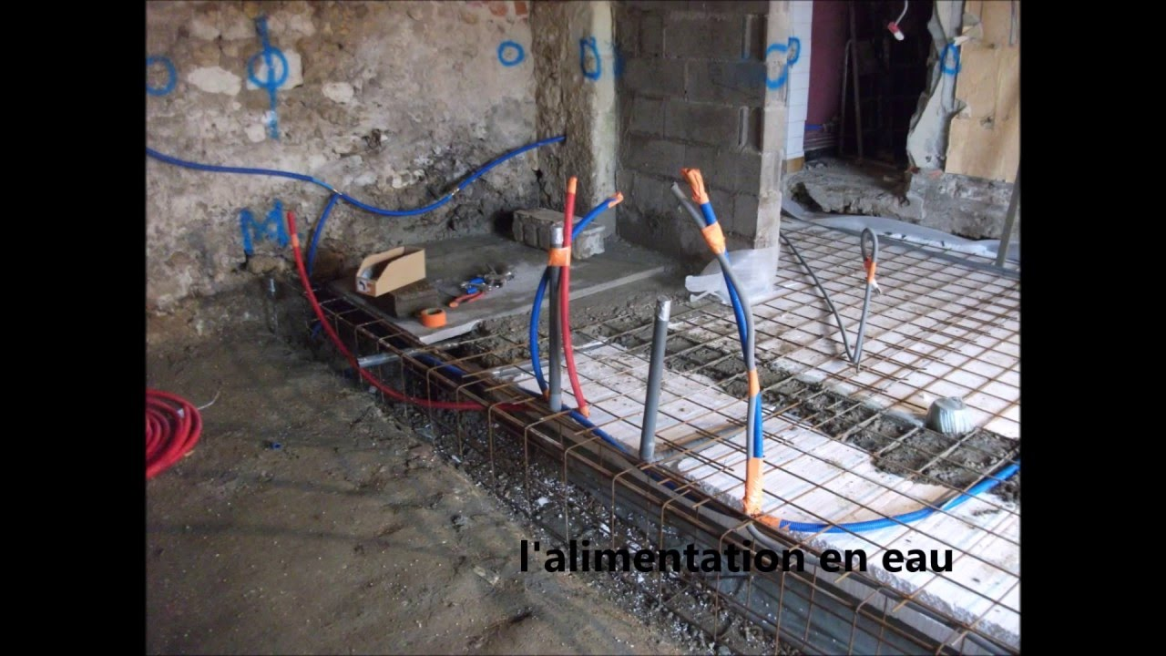 Refaire Fondation Maison Ancienne dalle dans une grange - youtube