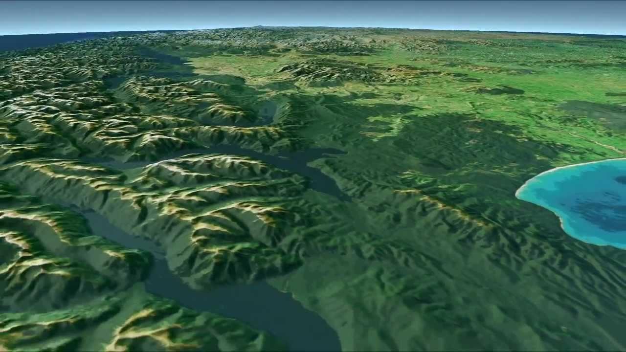 3d Map Of New Zealand.Maps Cel Shaded Virtualnz New Zealand Aotearoa
