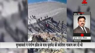 A video was captured showing clashes between India and China army t...