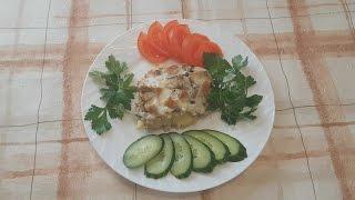 Картофельная запеканка в духовке с мясным фаршем и грибами