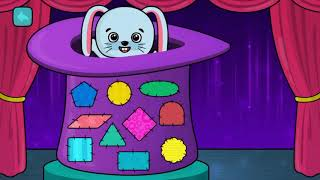 Matching Shapes For Children | Colored Shapes For Kids With Music