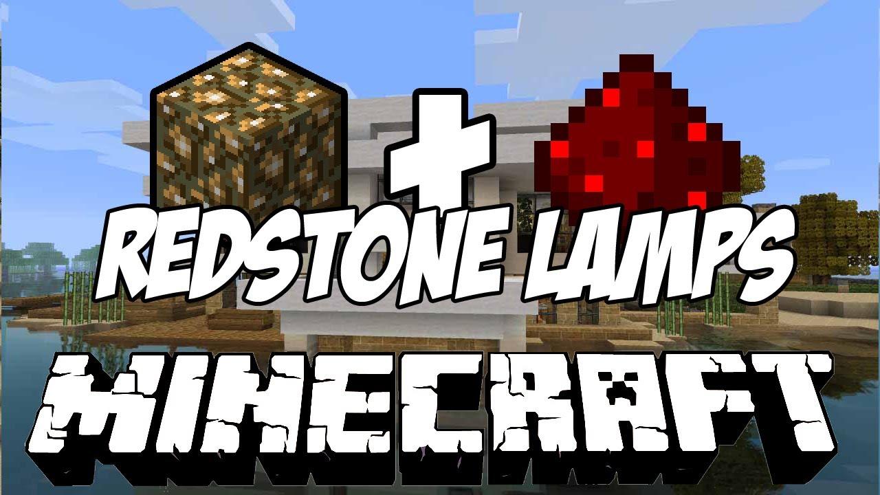 Minecraft 1.2   Glowstone + Redstone U003d Lamp   YouTube