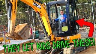 kids drive real tractors at diggerland usa