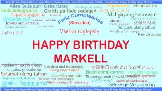 Markell   Languages Idiomas - Happy Birthday