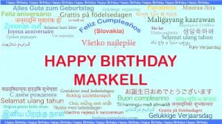 Markell   Languages Idiomas - Happy Birthday