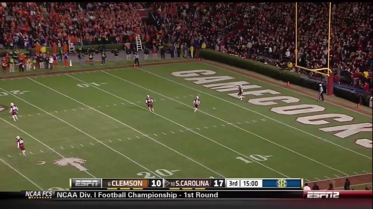 2013 USC vs Clemson - Pharoh Cooper 55 Yd Kickoff Return ...
