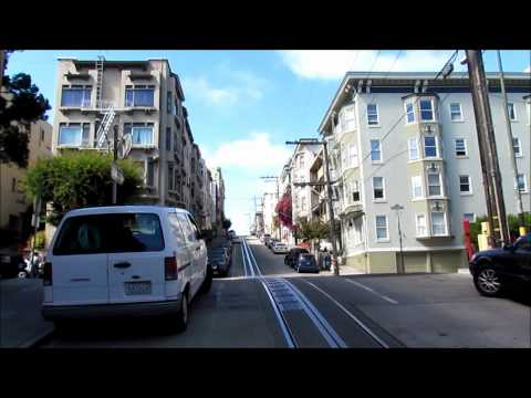 Cable Car ride in San Francisco - from Downtown to the Fishermans Wharf