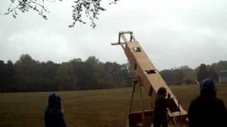 Giant Pumpkin Slingshot Test Fire