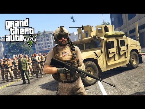 MILITARY TAKEOVER!! (GTA 5 Mods)