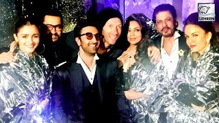 Ranbir, Alia, Shah Rukh, Aamir & Gauri Pose With Coldplay's Chris Martin