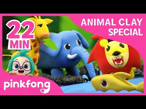 how-to-make-clay-baby-shark-and-more-|-clay-animals-|-+compilation-|-pinkfong-songs-for-children