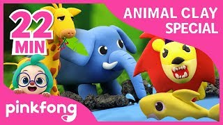 How to make Clay Baby Shark and more | Clay Animals | +Compilation | Pinkfong Songs for Children