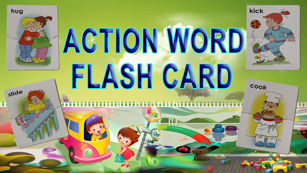 Worksheet Word Flash Cards action word flash card youtube card