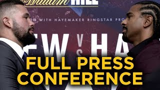 Video Tony Bellew vs David Haye FULL PRESS CONFERENCE download MP3, 3GP, MP4, WEBM, AVI, FLV Maret 2018