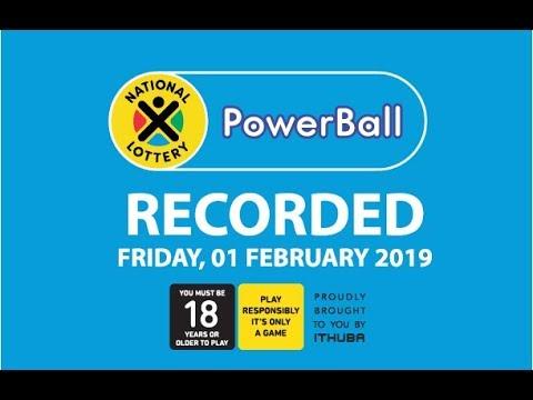 PowerBall Live Draw - 01 February 2019
