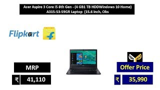 Acer Aspire 3 Core i5 8th Gen - (4 GB1 TB HDDWindows 10 Home) A315-53-59GR Laptop  (15.6 inch, Obs