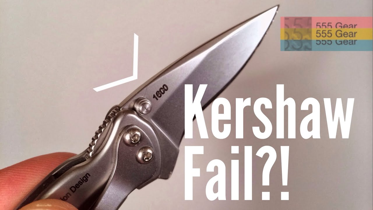 Update: Unusual Kershaw Chive Blade Failure & Warranty Report ...