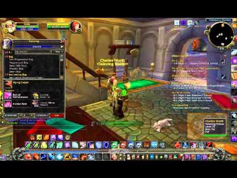 World of Warcraft flying carpe...