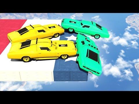MILE HIGH HEAVY CAR DERBY! (GTA 5 Funny Moments)