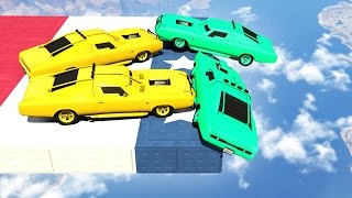 MILE HIGH HEAVY CAR DERBY! (GTA 5 Funny Moments)