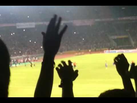Arsenal v Indonesia post match celebration