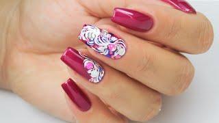 Autumn ornament dots nails art Tutorial / Stardoro