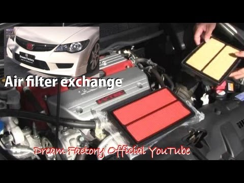 Air filter exchange☠Honda Civic Type R@Dream Factory Official YouTube
