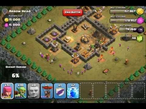 Clash Of Clans Singleplayer levels - Arrow Head